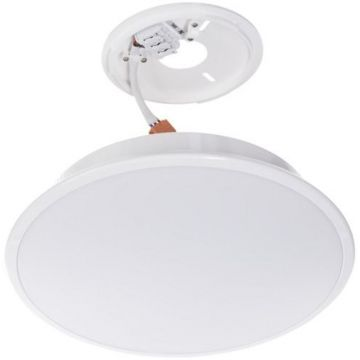 Timeguard Emergency Microwave LED Slimline Round Ceiling Light, 18W, White