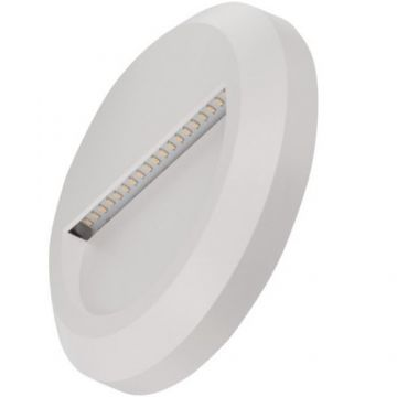 Timeguard Round LED Step Light, 1.3W, White