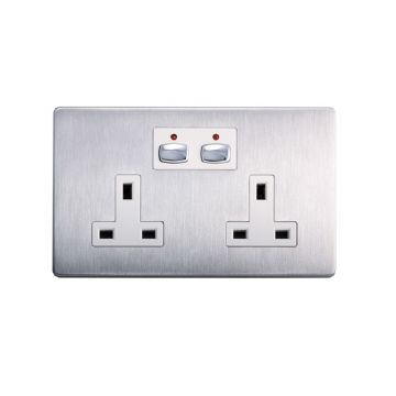 MiHome Smart Double Socket, Steel (DISCONTINUED)