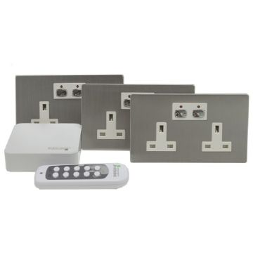 MiHome Smart Socket Bundle, Steel