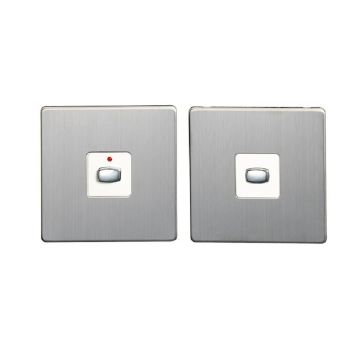 MiHome Single (1 Gang) Master & Slave Light Switches, Brushed Steel (DISCONTINUED)
