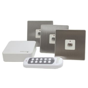 MiHome Smart Switch Bundle, Brushed Steel