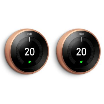Google Nest® Learning Thermostat - 3rd Generation, Copper - TWIN PACK