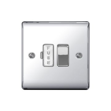 Nexus Metal 13A Switched Fused Connection Unit, Polished Chrome - PACK OF 5