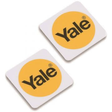 Yale Phone Tags, White, Twin Pack