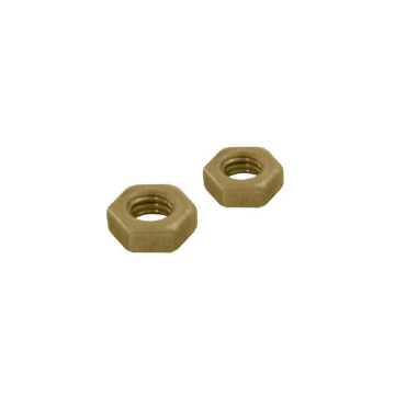 Unicrimp Full Nuts, Brass, M4, Pack of 100