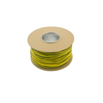 Unicrimp Earth Sleeving, Green/Yellow, PVC, 2mm x 100m