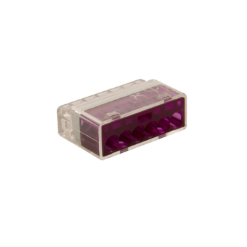 Unicrimp 6 Port Push in Connector, 24A, 450V, Purple