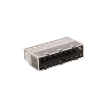 Unicrimp 8 Port Push in Connector, 24A, 450V, Black