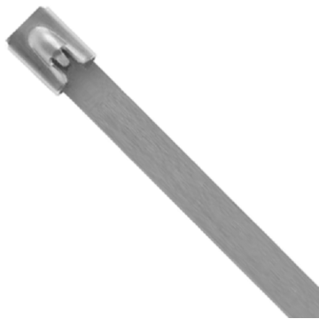Unicrimp Roller Ball Cable Ties, 300 x 4.6mm, Stainless Steel