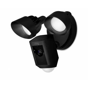 Ring Floodlight Cam Motion Activated Security Camera, Wired, Black