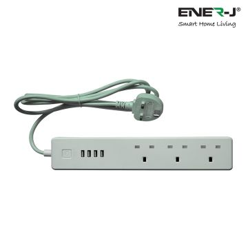 Ener-J WiFi Smart Power Strip Extension Lead with USB