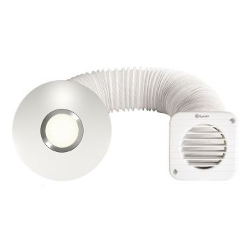 Xpelair SSISFC 4 Inch Illumi Shower Fan Kit in Cool White