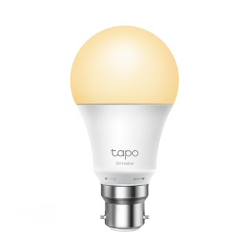 TP-Link Tapo LED Smart Wi-Fi GLS Bulb, Dimmable, 8.7W, B22, Warm White