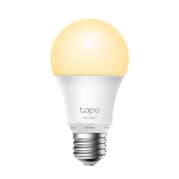 TP-Link Tapo LED Smart Wi-Fi GLS Bulb, Dimmable, 8.7W, E27, Warm White