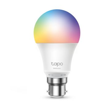 TP-Link Tapo LED Smart Wi-Fi GLS Bulb, Dimmable, 8.7W, B22, Multicolour