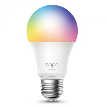 TP-Link Tapo LED Smart Wi-Fi GLS Bulb, Dimmable, 8.7W, E27, Multicolour