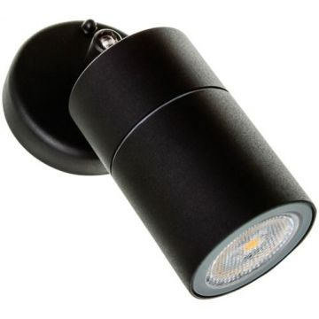 Timeguard LED/Halogen Adjustable Single Spot Light, Black
