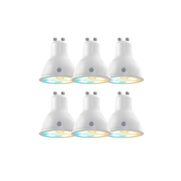 Hive Active LED Smart GU10 Spotlight, 5.4W, Tuneable Warm to Cool White, PACK OF 6