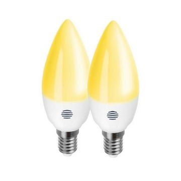 Hive Active LED Smart E14 Candle, Dimmable, Screw Fit, 5.3W, Light Warm White, PACK OF 2