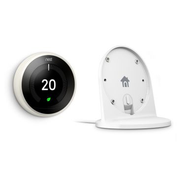 Google Nest® Learning Thermostat & Stand Special Offer - 3rd Generation, White
