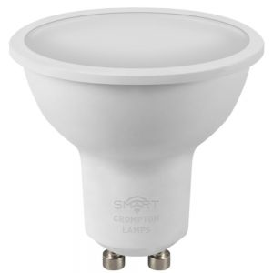 Crompton LED Smart GU10 Spotlight, Dimmable, 5W, Tuneable Warm to Cool White
