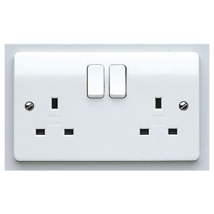 Mk Logic Plus K2747WHI 13A Double Plug Socket, White