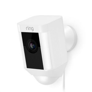 Ring Smart Spotlight Camera, Wired, White