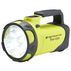 NightSearcher Trio-550 Rechargeable LED SearchLight, 550 Lm
