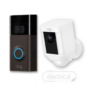 Ring Video Doorbell V3 & White Spotlight Cam (Battery) Bundle