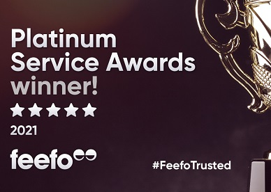 Winners of Feefo Platinum Trusted Service Award 2021
